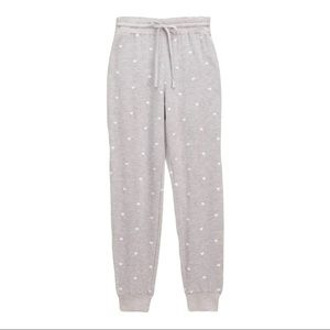 Splendid Embroidered Heart Sweatpant Size Small
